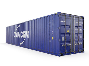 3D shipping container cma-cgm 40