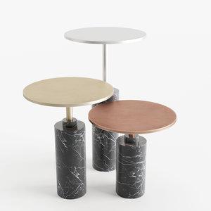 3D rossato arredamenti claridge tables model