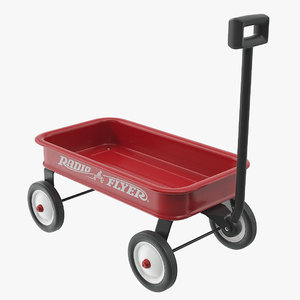 radio flyer wagon 3D