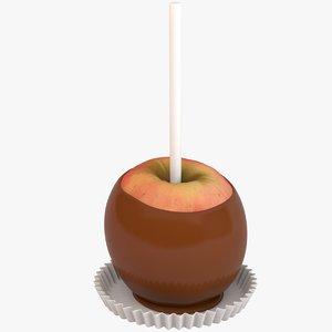 3D model caramel apple red