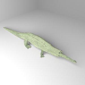 3D gharial