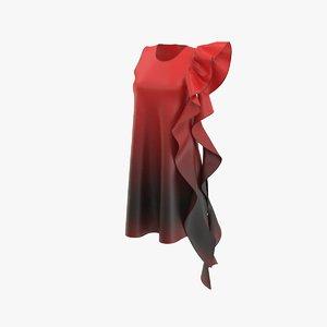 gown dress 3D model