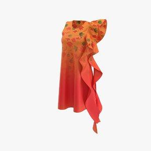 gown dress 3D