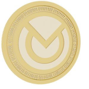 3D monero original gold coin