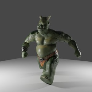 fat green ogre 3D model