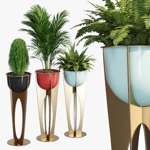 vase flower studio model