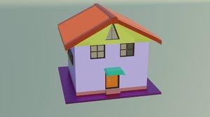 blen house 3D model