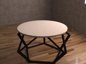 modern pentagon coffee table 3D model