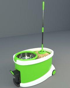 3D modern bucket mop push-up