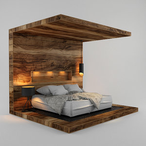 3D model bed fabricated blanket