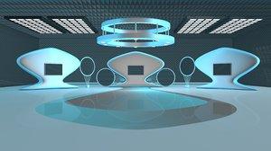 abstract virtual set contemporary model
