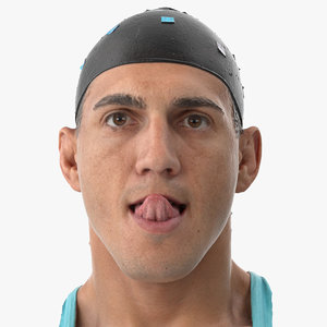 3D mike human head tongue model