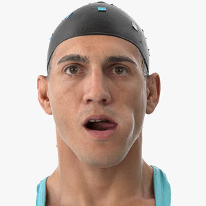 3D mike human head tongue