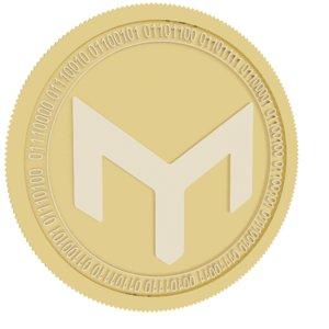 mothership gold coin 3D