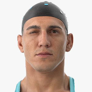 mike human head eyes 3D model