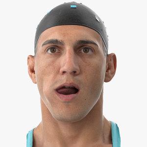 mike human head tongue 3D model