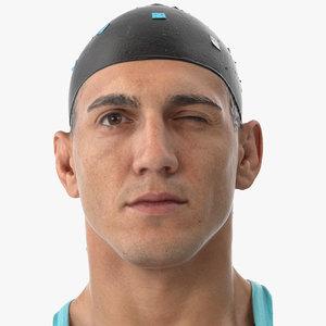 3D mike human head eyes