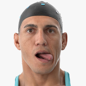 mike human head tongue 3D