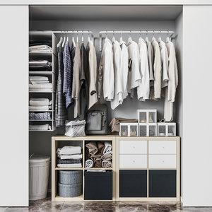 ikea built-in wardrobe set 3D model