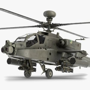 ah-64 apache helicopter model