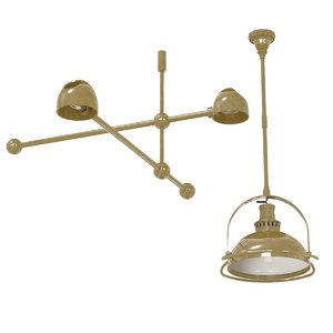 chandelier lighting 2 custom 3D model