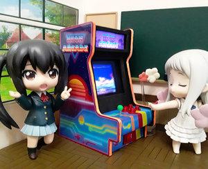 3D model miniature neon arcade figures