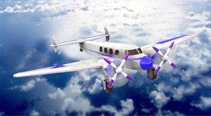 3D biplane sea plane modern