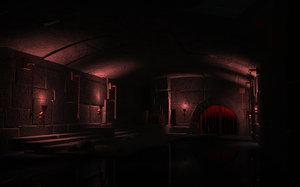 3D ancient prisons dungeons cells