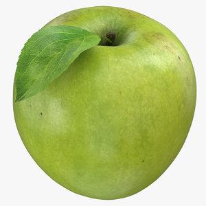 3D green apple leaf