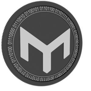 3D mothership black coin model