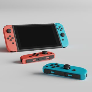 nintendo switch joycons 3D model