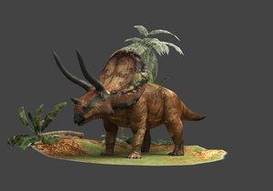 3D coelurosaurs triceratops herbivores ancient
