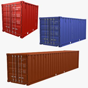 3D shipping container model