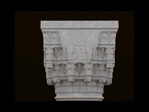 3D model islamic column
