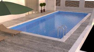 outdoor pool 3D model