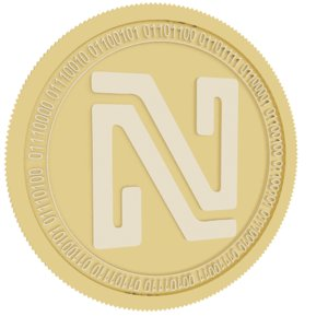 3D noir gold coin