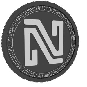 noir black coin 3D