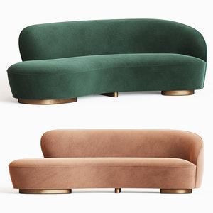 mini sofa arm vladimir kagan model