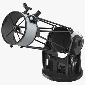 truss tube dobsonian telescope 3D model