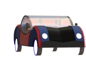 3D sci-fi toy car