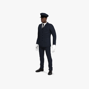 limousine driver afro-american 3D model