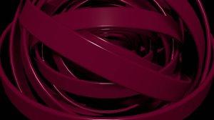 Red metallic circles logotype animated