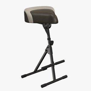 piano stool 3D model