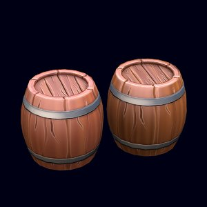 stylized barrel 3D
