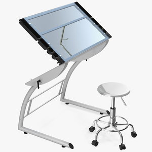 3D triflex adjustable glass drawing table
