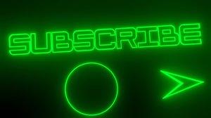subscribe green neon advertisement inscription