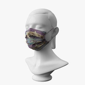 mask mannequin 3D model