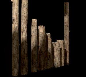 old planks 3D