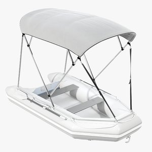 inflatable boat sunshade 3D model