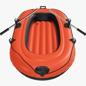 inflatable boat 3D